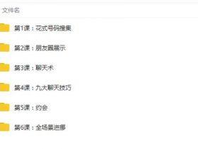 中国把妹方法2 系统泡妞课程教学